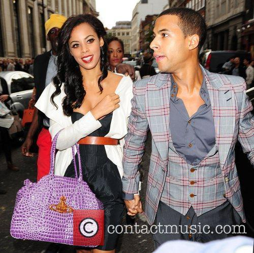 Rochelle Wiseman and Marvin Hume London Fashion Week...