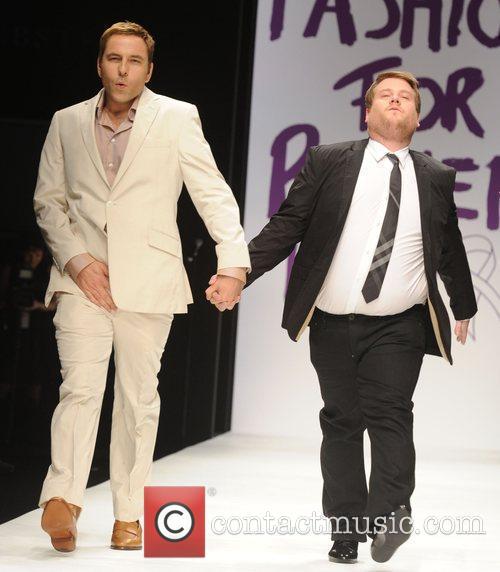 David Walliams and James Corden London Fashion Week...