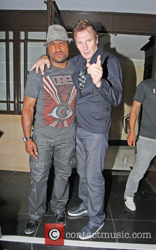 Liam Neeson and fellow A-Team actor Quinton Jackson...