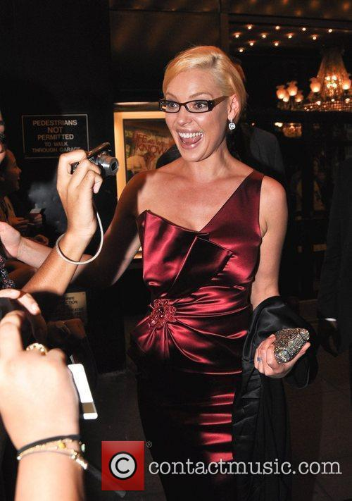 Katherine Heigl interacts with fans following the premiere...