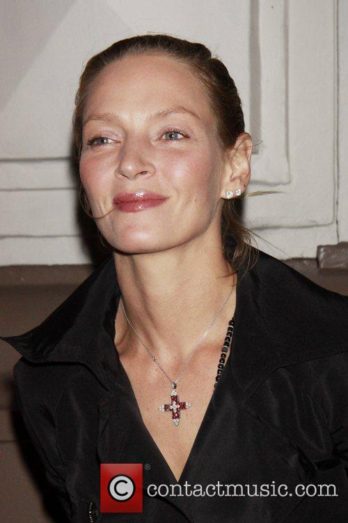 Uma Thurman Opening night of the Broadway production...