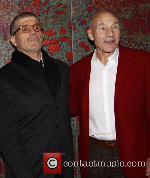 David Mamet and Patrick Stewart Opening night after...