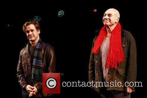 T.R. Knight and Patrick Stewart Opening night of...