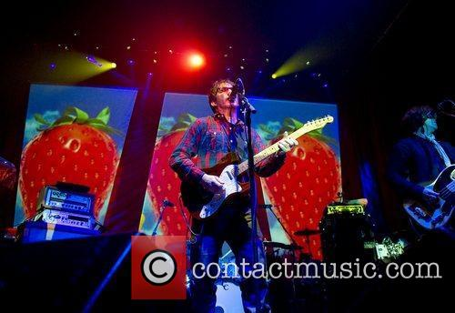 Ian Broudie of the The Lightning Seeds performing...