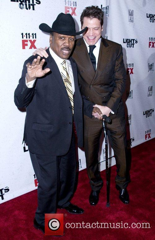 Joe Frazier and Holt McCallany Premiere screening of...