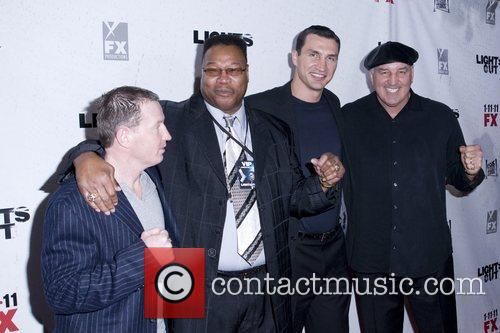 Larry Holmes and Wladimir Klitschko with guests Premiere...
