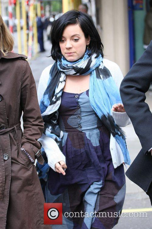 Lily Allen out and about in central London...