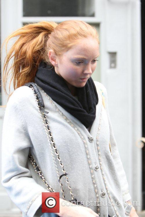 Lily Cole shopping with friends in central London...