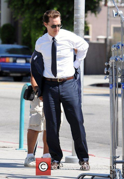 On the set of 'The Lincoln Lawyer'