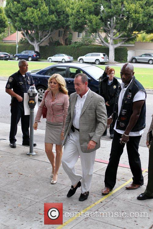 Kate Major and Michael Lohan arrive at the...