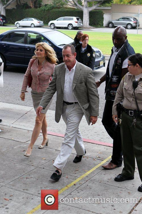 Arrive at the Beverly Hills Courthouse for a...