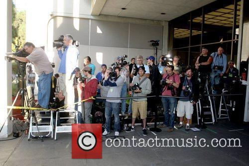 Atmosphere The media waiting for Lindsay Lohan to...