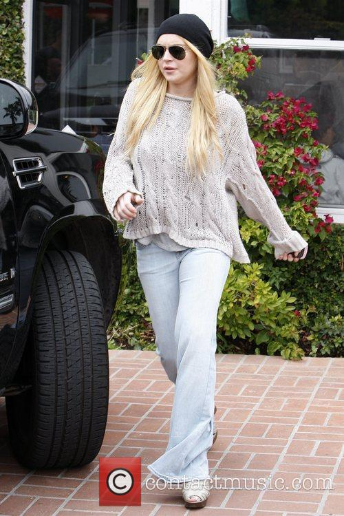 Lindsay Lohan  shopping at Fred Segal in...
