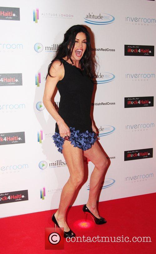 Janice Dickinson  arrives for the 'Brit Celebration...