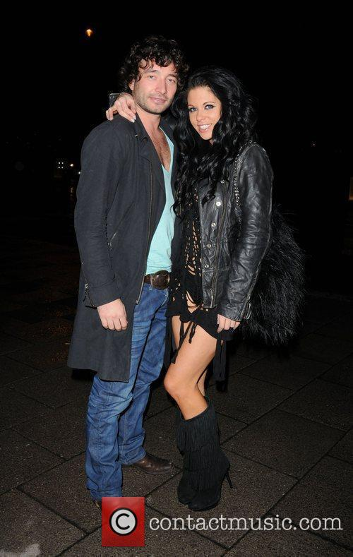 Bianca Gascoigne and a friend arrive for the...