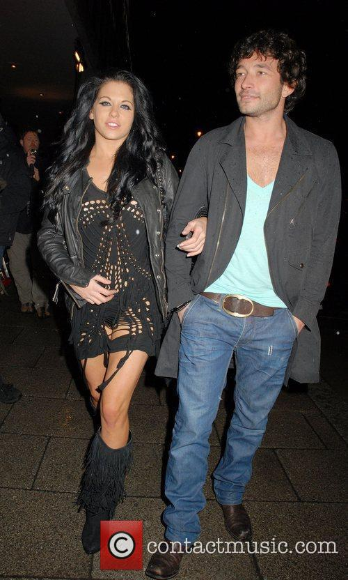 Bianca Gascoigne and guest arrive for the 'Brit...