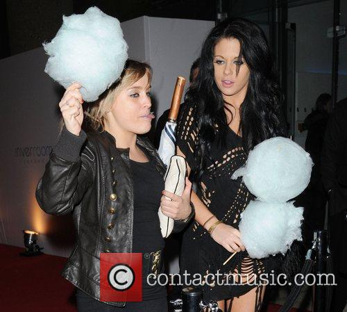 Bianca Gascoigne and a friend with blue candy...