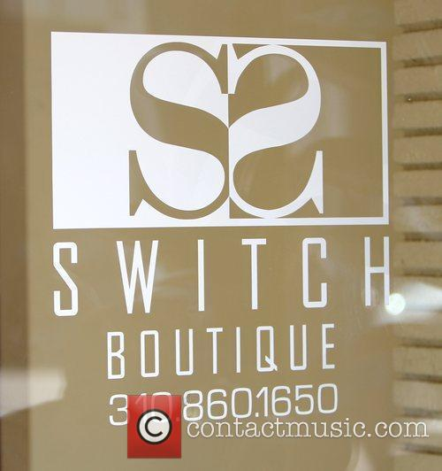 Atmosphere Lindsay Lohan shopping at Switch Boutique in...