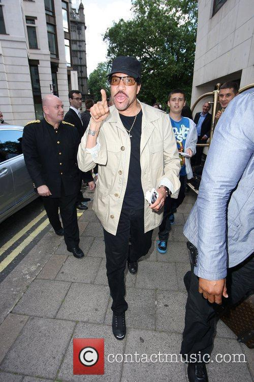 Lionel Richie  arriving at the Dorchester Hotel...