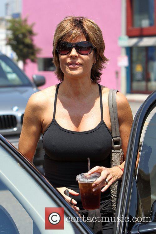Lisa Rinna departs a pilates studio on Melrose...