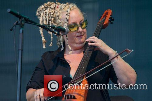 Amy Ziff cello and vocals Betty performing live...