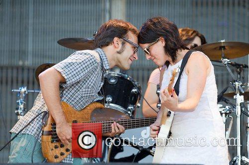 Band members Natalia Mallo singer and Danilo Penteado...