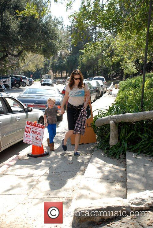 Liv Tyler with her son Milo William Langdon...
