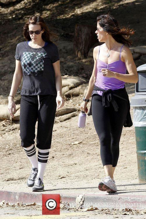 Liv Tyler returning from a hike with her...