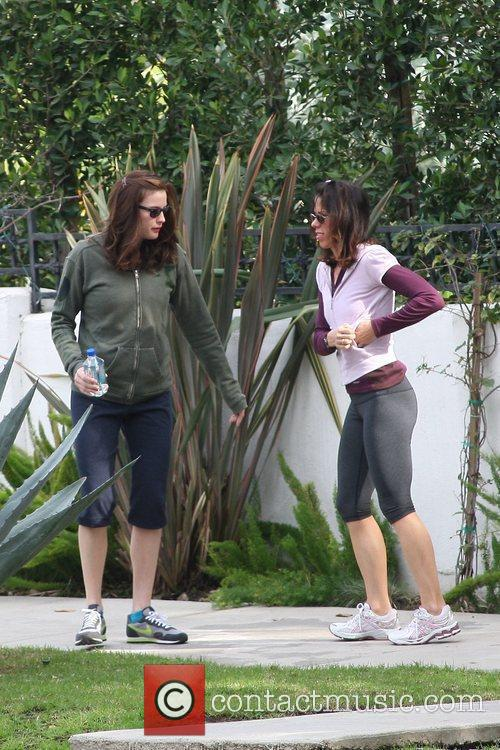 Liv Tyler out jogging with a friend in...