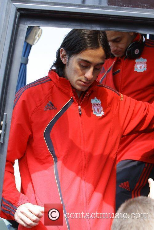 Alberto Aquilani catching a train at Runcorn station...