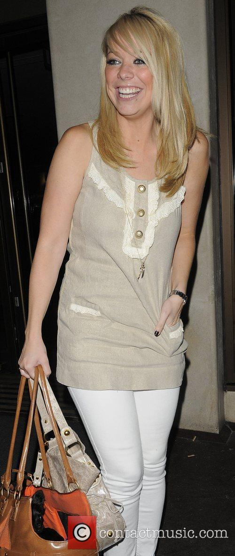 Liz McClarnon leaving The Mayfair Hotel London, England