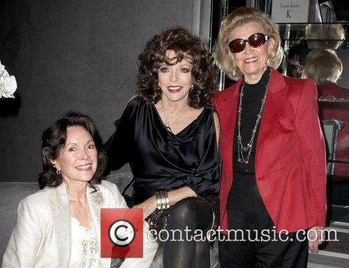 Joan Collins and Barbara Davis