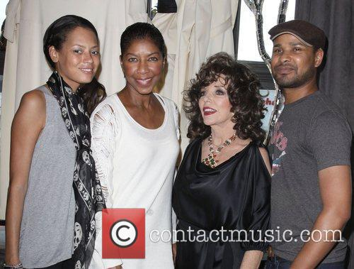 Keisha Whitaker, Joan Collins and Natalie Cole 2