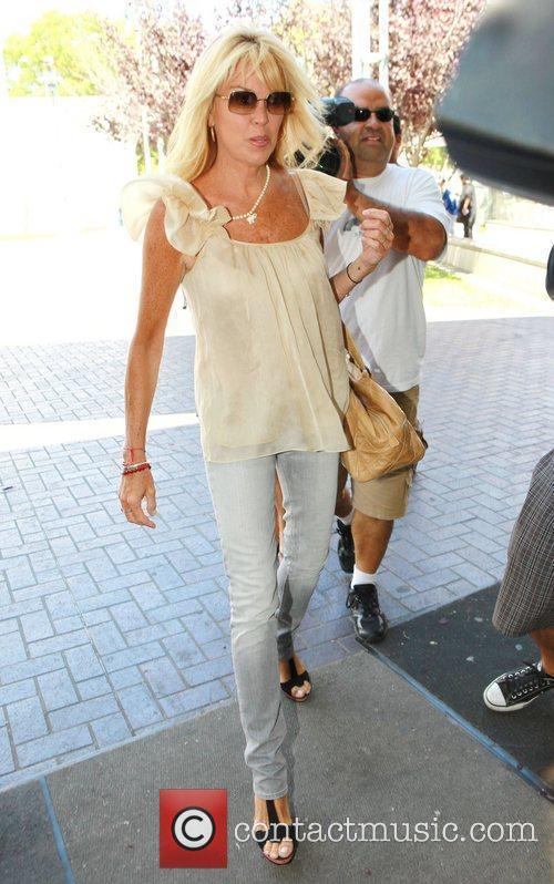 Dina Lohan Sam Ronson is seen arriving at...