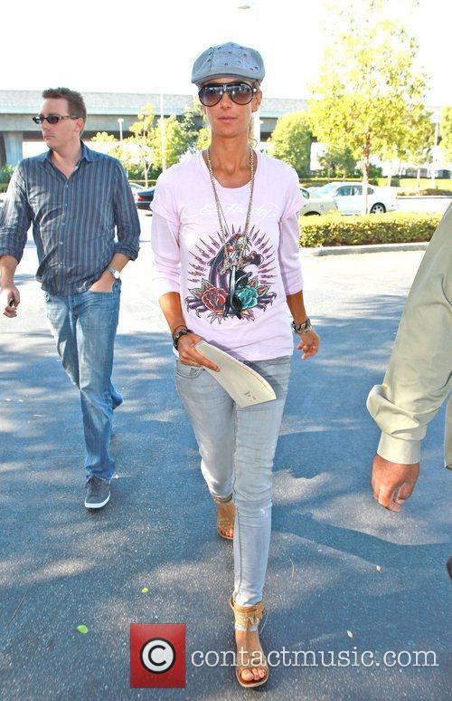 Lady Victoria Hervey arrives at and later leaves...