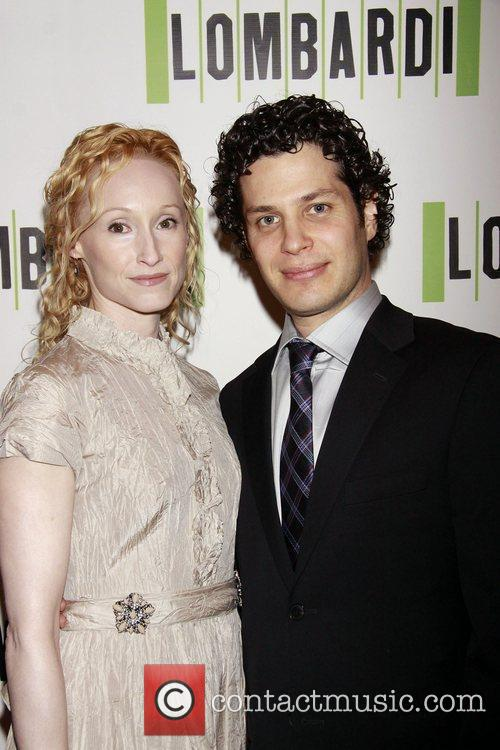 Angela Christian and Thomas Kail Opening night of...