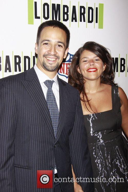 Lin-Manuel Miranda and his wife Vanessa Nadal Opening...