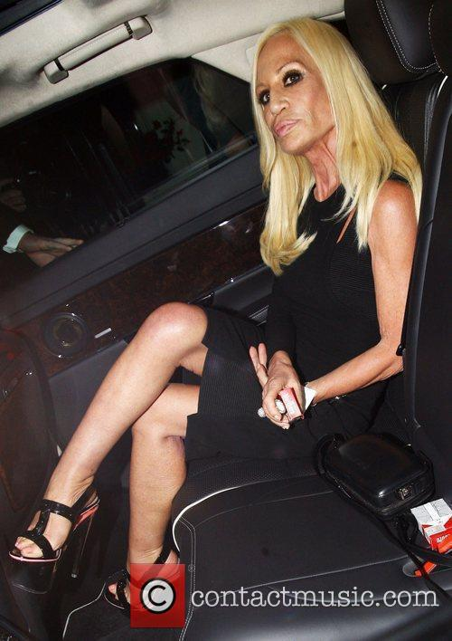 Donatella Versace leaving a photo exhibition launch by...