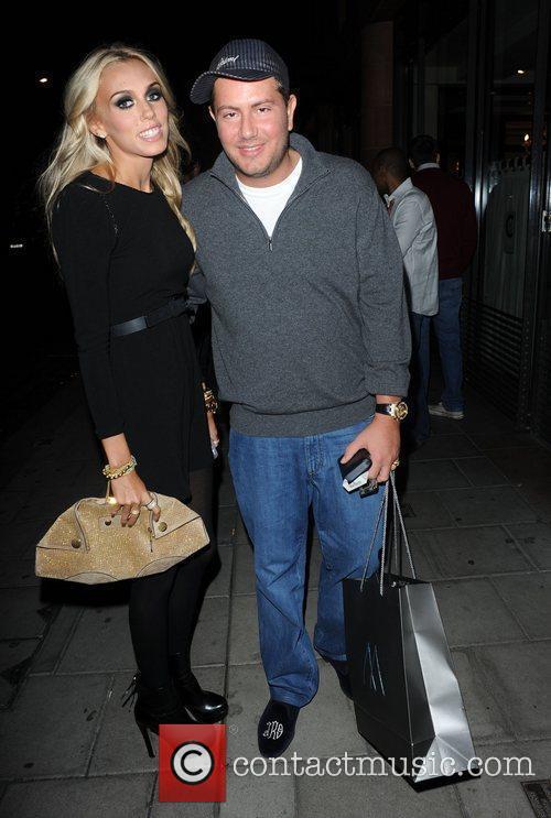 Petra Ecclestone and her boyfriend celebrities outside C...