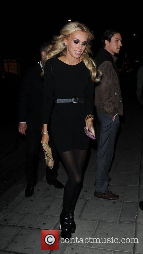 Petra Ecclestone celebrities outside C Restaurant in London...