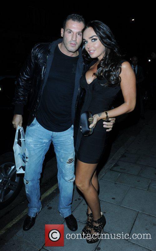 Tamara Ecclestone and her boyfriend celebrities outside C...