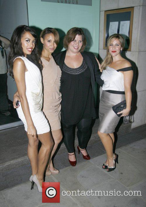Sugababes Jade Ewan, Amelle Berrabah and Heidi Range...