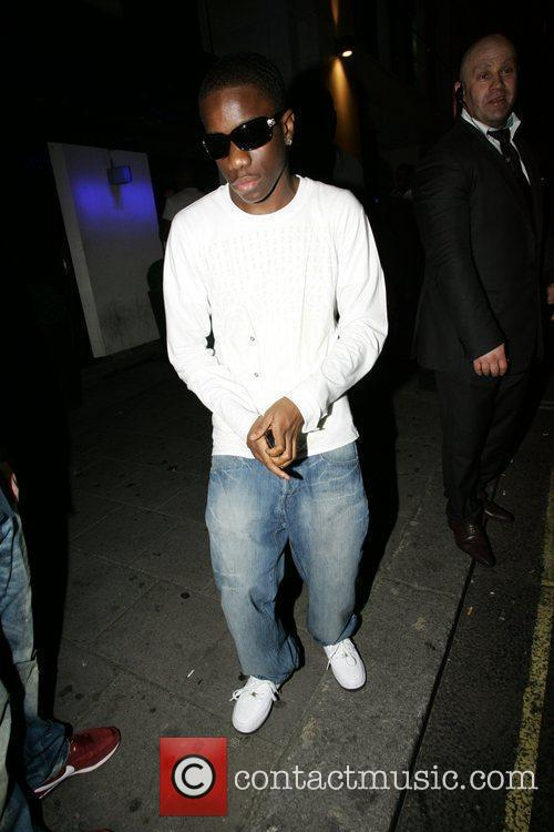 Tinchy Stryder Celebrities out and about in London...