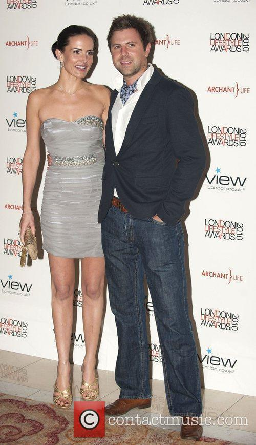 Sophie Anderton with her boyfriend James Simpson London...
