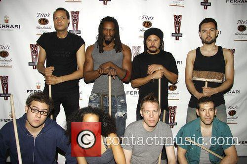 The current cast of Stomp  the 2010...