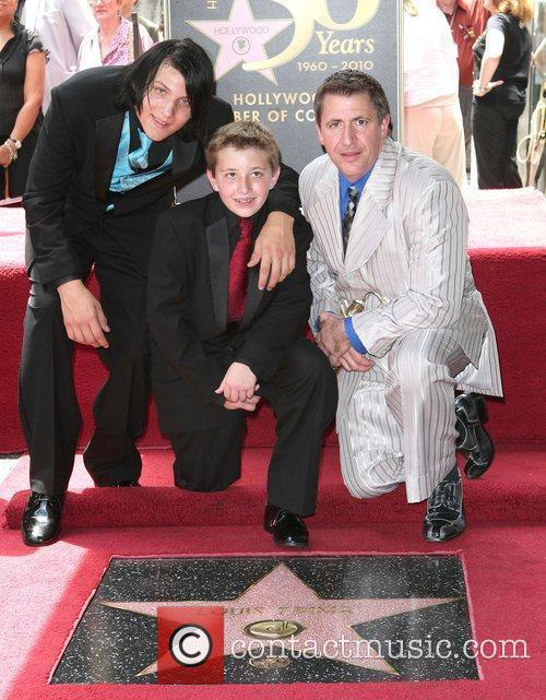 At the newly unveiled Hollywood Walk of Fame...