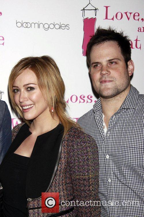 Hilary Duff and Mike Comrie Party celebrating the...