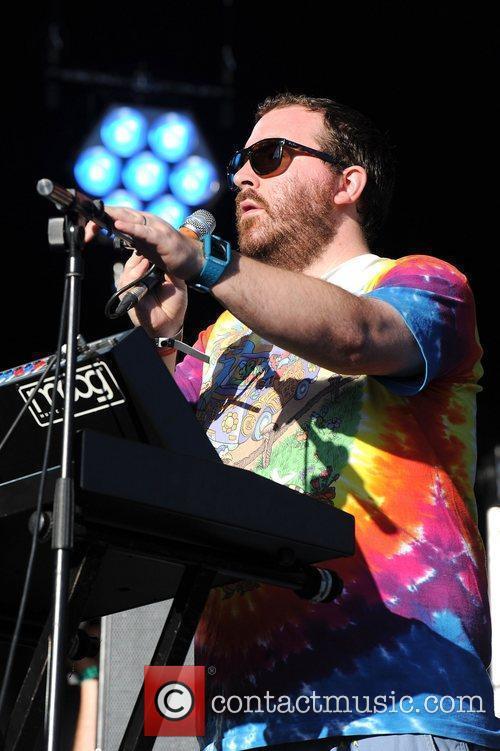 Joe Goddard of Hot Chip,  at Lovebox...