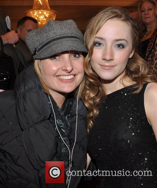 Siobhan O'Connor and Saoirse Ronan Irish Premiere of...