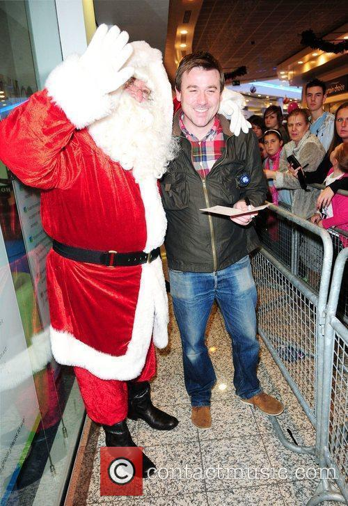 Coronation Street Graham Hawley meets Santa at the...